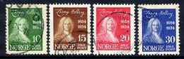 NORWAY 1934 Holberg Anniversary Set Used.  Michel 168-71 - Norway