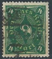 1921-23 GERMANIA REICH WEIMAR USATO CORNO DI POSTA 4 M - R47-8 - Deutschland