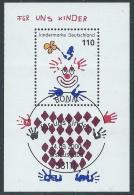 2000 GERMANIA FEDERALE USATO FOGLIETTO PER NOI BAMBINI ANNULLO FDC - R29 - [7] Repubblica Federale