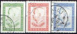 SWEDEN  #  STAMPS FROM 1952 STAMPWORLD 378-80 - Sweden