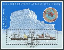 2001 GERMANIA FEDERALE USATO FOGLIETTO ANTARTICO ANNULLO FDC - R29 - [7] Repubblica Federale