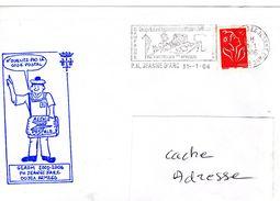 Porte Hélicoptères PH JEANNE D'ARC JDA Georges Leygues GEAOM 05/06  Cachet Code Postal  Obl. Mécanique 31/01/06 - Marcophilie (Lettres)