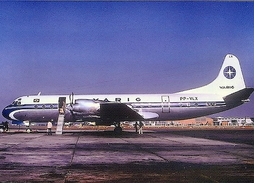 Aviation Postcard-364 VARIG L-188 Electra - 1946-....: Moderne