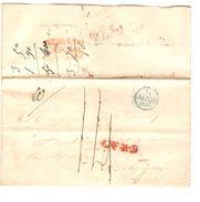 LAC écrit De 'La Chaumongros' 6/2/1839 C.Billom 7/2/1839 OR & 1 D Port 7 Pour Paris C.d'arrivée PR5041 - 1801-1848: Precursores XIX