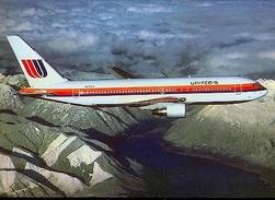 Aviation Postcard-368 UNITED AIRLINES Boeing 767 - 1946-....: Moderne