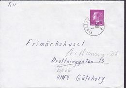 Sweden VINGÅKER 1980 Cover Brief GÖTEBORG REadressed 1.50 Kr King Carl XVI. Gustaf (Cz. Slania) - Briefe U. Dokumente