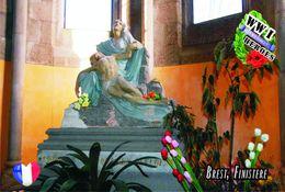 Carte Postale, Militaria, Monuments, World War I Monuments, France (Finistère), Brest 5 - Monuments Aux Morts