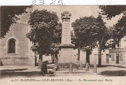Militaria : ST-DIDIER -sur- CHALARONNE  Ain ( Le Monument Aux Morts ) - Monumenti Ai Caduti