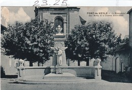 Militaria : PONT -de- VEYLE  Ain ( Le Monument Aux Morts ) - Monumenti Ai Caduti