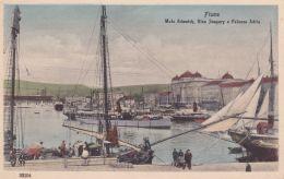 1920circa-Croazia Fiume Molo Adamich Riva Szapary E Palazzo Adria ,cartolina Non Spedita - Croazia