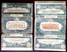 Turkey,Ottoman,2 PAPER OF CIGARETTES,Two Different Forms  #1916 Turkman,FV.. - Cigarette Holders