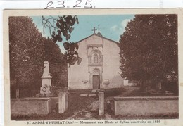 Militaria : ST ANDRE- D' HUIRIAT  Ain ( Le Monument Aux Morts ) - Monumenti Ai Caduti