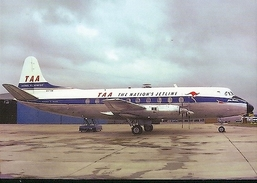 Aviation Postcard-381 TAA TRANS AUSTRALIA Viscount - 1946-....: Moderne