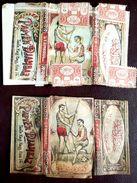 Turkey,Ottoman,2 PAPER OF CIGARETTES,Two Different Forms  #1916 Djambaz,FV.. - Cigarette Holders