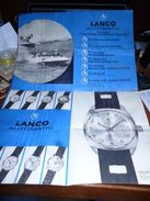 Pub Lanco Automatic - Grand Poster - 3 Tableaux Mouvements 1969 - Bijoux & Horlogerie