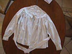 7-Chemise En Coton Fin Ou Lin Avec Ceinture - Vintage Clothes & Linen