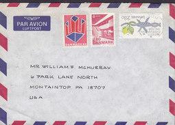 Denmark Par Avion Luftpost VIRUM 1989 Cover Brief MONTAINTOP Pa. USA Europa CEPT (Cz. Slania) & Amenesty International - Briefe U. Dokumente