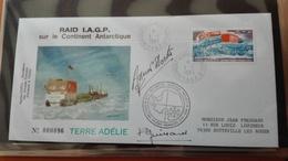 Pli Affranchi TAAF PA 62 Dumont D'Urville 1/1/ 83 Raid IAGP -  Signature Guillard - Brieven En Documenten