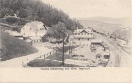 Station SEMMERING Und Hotel Stephanie, Karte Um 1900 - Semmering