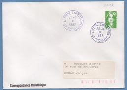 BT Bureau Temporaire Foire Exposition La Rochelle 1992 / N° 2718 Roulette Briat Voy TB - Bolli Commemorativi
