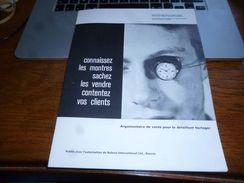 Publicité Horlogerie Suisse Argumentaire De Vente - Bulova International Bienne 16p Années 60 - Bijoux & Horlogerie