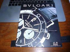 Publicité Commerciale Horlogerie Suisse Catalogue Bulgari 2001  46p - Bijoux & Horlogerie