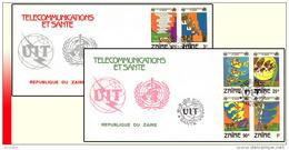 Zaire 1125/32 FDC  Telecommunications Et Sante - Zaïre