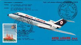 1976- Cartolina Ufficiale Della Avio Ligure Con Bollo Settimana Aviatoria Fiorentina Dell'aereo Club L.Gori - 1946-....: Era Moderna