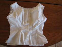 10 - Chemisier En Coton Fin Ou Lin - Vintage Clothes & Linen