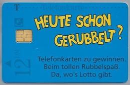 DE.- Telefoonkaart. Telecom TELEFONKARTE. 12 DM. - RUBBEL-SPASS. Überall Da, Wo's Lotto Gibt. HEUTE SCHON GERUBBELT? - Duitsland
