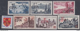 Réunion N° 320 / 30 X : La  Série Des 11 Valeurs Surchargées CFA   Trace De Charnière Sinon TB - La Isla De La Reunion (1852-1975)