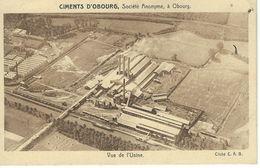 Ciments D'OBOURG - Vue De L'Usine - Cachet De La Poste 1937 - Mons