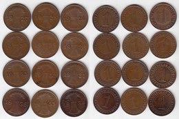 1 Reichspfennig 1924-1936 Weimar Alle 12 Jahrg. Jäger 313   (b292 - [ 3] 1918-1933 : República De Weimar