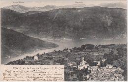 1905-Svizzera Rovio Et Le Lac De Lugano,viaggiata - Svizzera