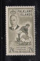 Falkland Islands 1952 MNH Scott #117 2sh6p Sheep Shearing George VI - Falkland
