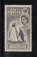 Falkland Islands 1956 MH Scott #127 1sh Gentoo Penguins Elizabeth II - Falkland