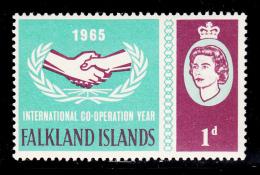 Falkland Islands 1965 MNH Scott #156 1p International Co=operation Year - Falkland