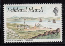 Falkland Islands 1980 MNH Scott #312 25p Early Settlements Port Louis - Falkland