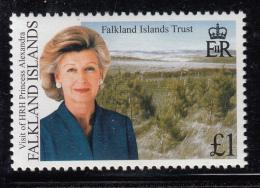 Falkland Islands 1983 MNH Scott #757 1pd Princess Alexandra's Visit - Falkland