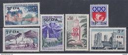 Réunion N° 342 / 52A X La Série Des 16 Valeurs  Surchargée CFA, Trace De Charnière Sinon TB - La Isla De La Reunion (1852-1975)