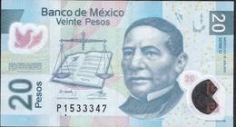 MEXICO P122l 20 PESOS 12.6.2012 Serie U    VF   NO P.h. ! - Mexique