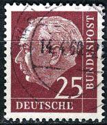BRD - Mi 186 ⨀ (D) - 25Pf   Heuss I - Used Stamps