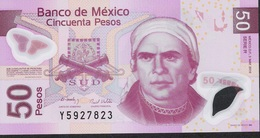 MEXICO P123k  50 PESOS 3.5.2010 Serie R   UNC. - Mexique