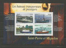 Les Bateaux Transporteurs De Passagers - St.Pierre Et Miquelon