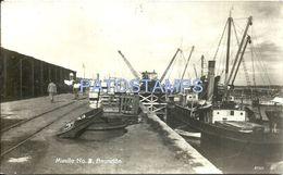 84102 PARAGUAY ASUNCION DOCK MUELLE Nº 5 & SHIP POSTAL POSTCARD - Paraguay
