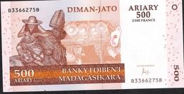 MADAGASCAR P88d 500 ARIARY  2004  BB Signature 7 Issued 2016 UNC. - Madagascar