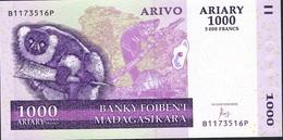 MADAGASCAR P89c 1000 ARIARY  2004  BP Signature 7 Issued 2016 UNC. - Madagascar