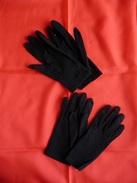 2 Paires De Gants Anciennes En Coton -  Couleur : Noir. - Autres