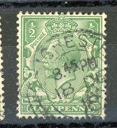 GRANDE BRETAGNE -    N° Yt 139 Obl. - 1902-1951 (Rois)