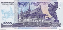 CAMBODIA P67 1000 RIELS DATED 2016  (issued 2017 ) UNC. - Cambodia